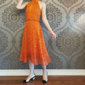 Karen Millen Polka Dot pleated dress